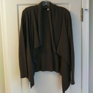 LOFT brown open cardigan
